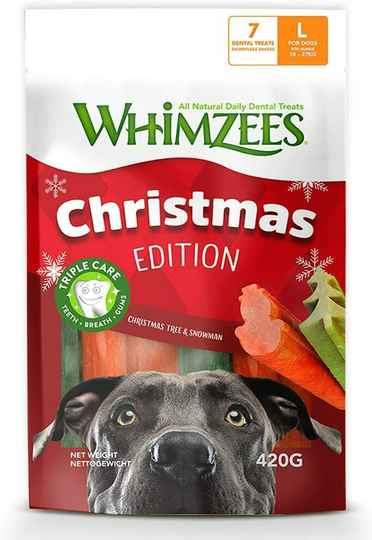 Whimzees Christmas Edition, Größe L, 420g