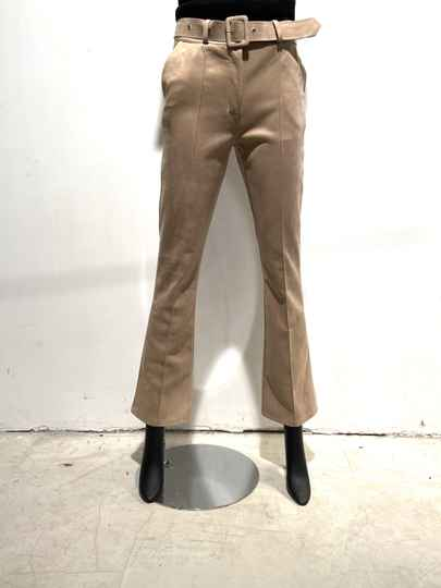 LOLA! FAUX SUEDE SAND PANTS WITH BELT