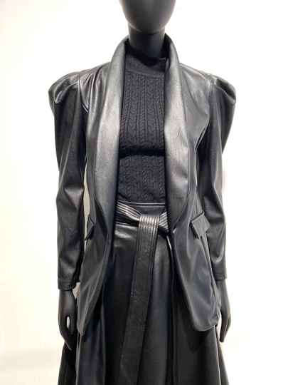 LOLA! FAUX LEATHER BLAZER GAGA