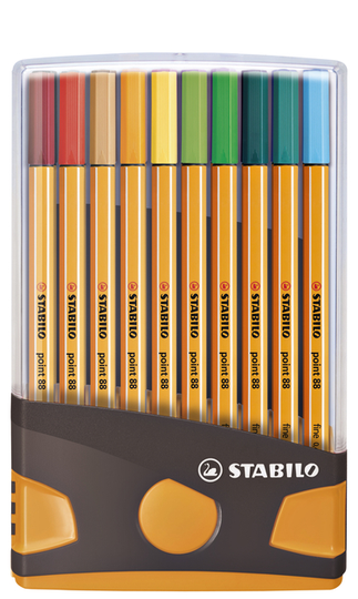 Fineliners STABILO point 88 20 kleuren