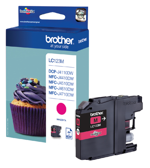 Brother LC-123M rood