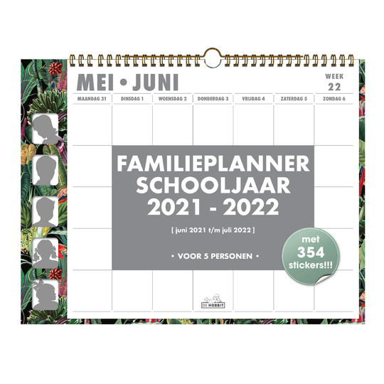 Familieplanner Omslag 2021-2022 - 5 pers.
