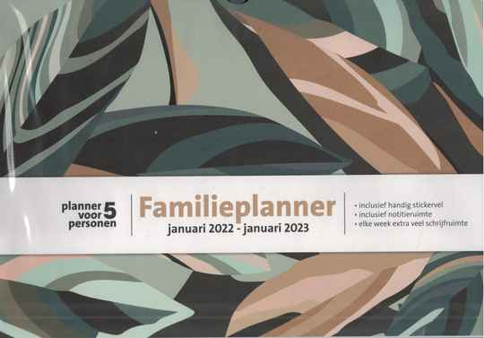 Bruna Familieplanner 2022 A4 leaves