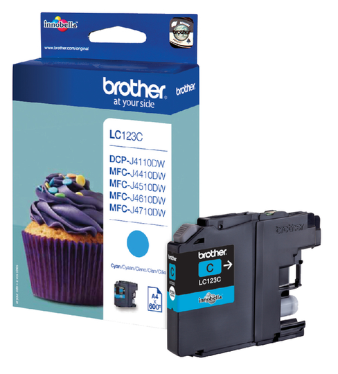 Brother LC-123C blauw