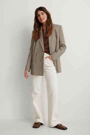 NA-KD Organic Relaxed Full Length Jeans
