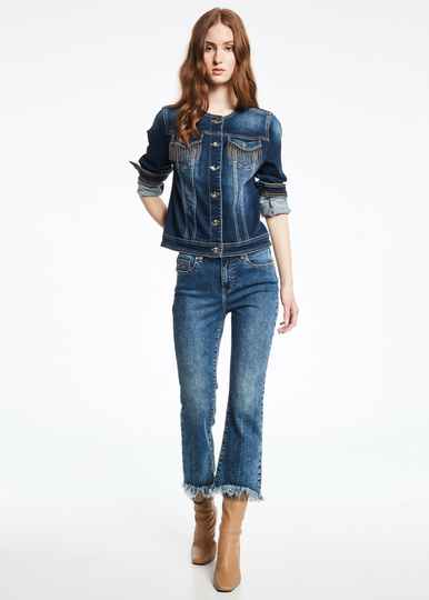 Gaudi Flared Cropped Jeans
