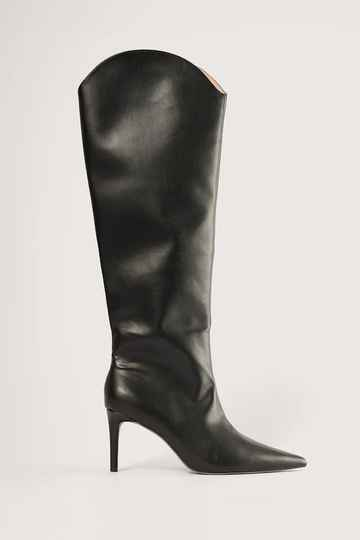 NA KD High Heel Boots Smooth / pointed Nose