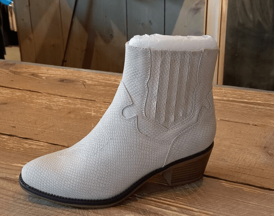 Fabs Off-White Western Boots