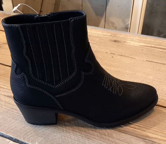 Fabs Western Boots Black