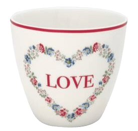 Limited Edition - Latte cup Heart Love white - GreenGate