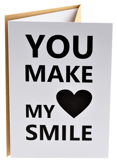 Connect wenskaart 13 - You make my heart smile