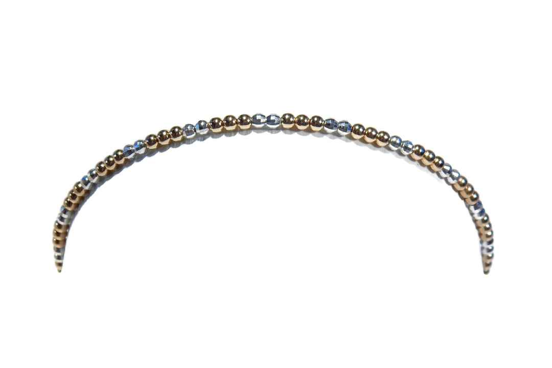 flexbracelet 2 mm with sparkling silver accents BF1431
