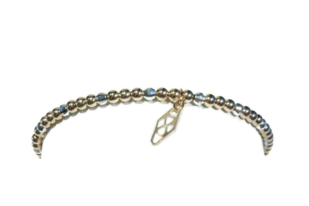 flexbracelet 3 mm with sparkling silver accents BF1418