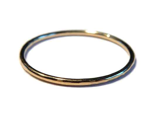 stackring 1 mm hammered RSG2