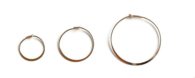 flattened hoop Solo HSF1553 (priced per piece)