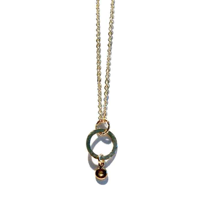 necklace hammered ring N1153