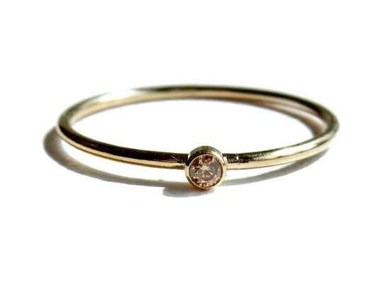 stackring 1 mm champagne RSG9