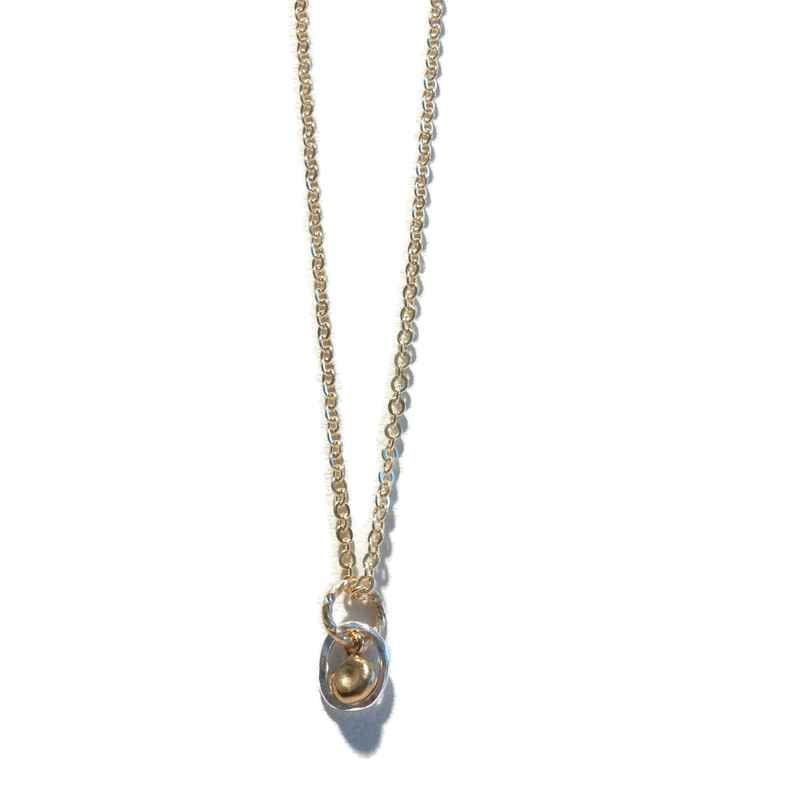 necklace silver ring N1144