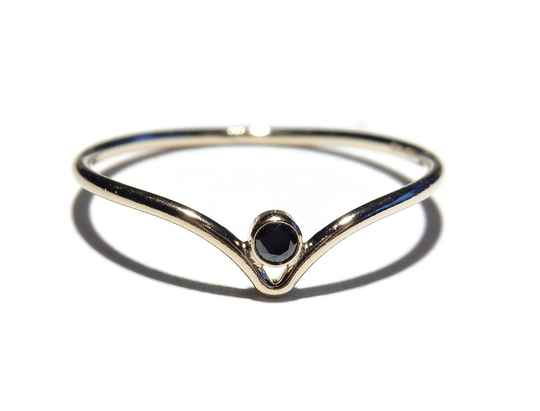 stackring V-shape black RSG15