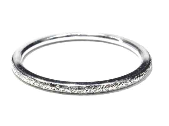 stackring silver 1,5 mm diamond look RSS6