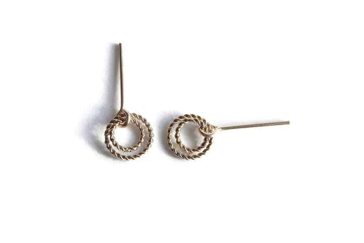 studs Twist two twisted rings ST634