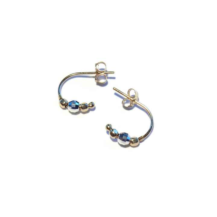 studs Moon sparkling silver & 14K/20 gold SMO1518