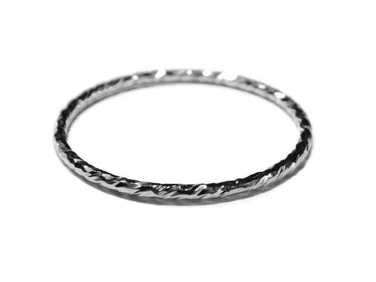 stackring silver 1 mm sparkling RSS13