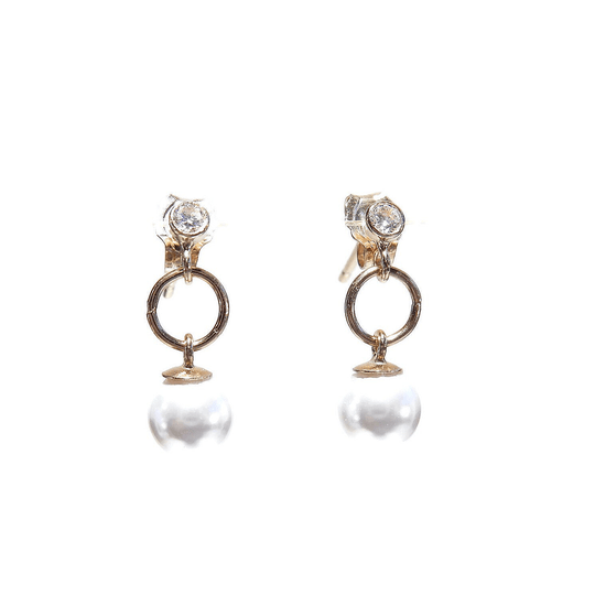 earrings Luc white pearl EL1345 (temporarily unavailable)
