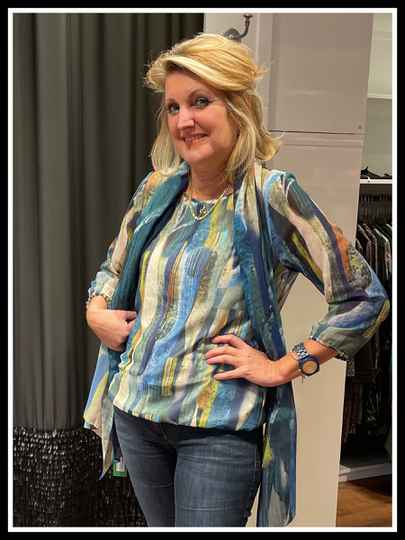 Lizzy & Coco blouse salie