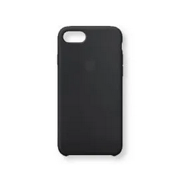 Apple iphone 8 back cover Silicone black