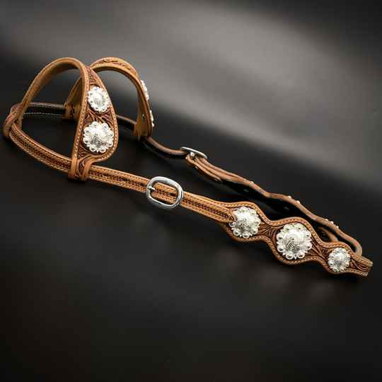 Headstall with Concho's Russet