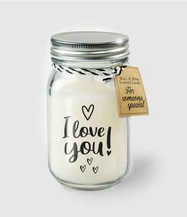 Black & White scented candles - I love you