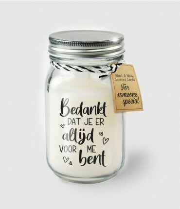 Black & White scented candles - Bedankt