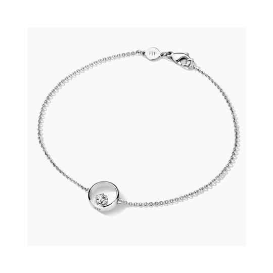 FJF Armband Icon Heart Silver/White FJF0050001SWH