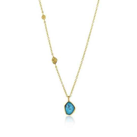 Ania Haie Turquoise Pendant - Necklace AH N014-02G