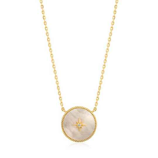 Ania Haie Mother of Pearl Emblem - Necklace AH N022-02G