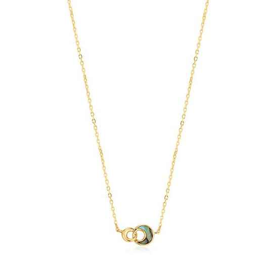 Ania Haie Tidal Abalone Crescent Link Necklace AH N027-03G