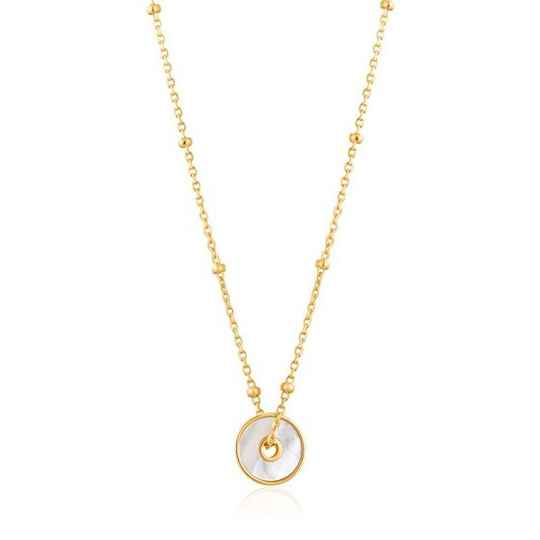 Ania Haie Mother of Pearl Disc - Necklace AH N022-01G