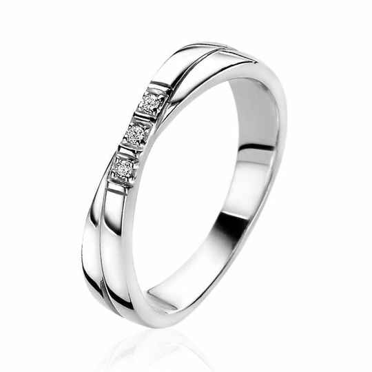 ZINZI Ring Zilver Cross-over ZIR2039