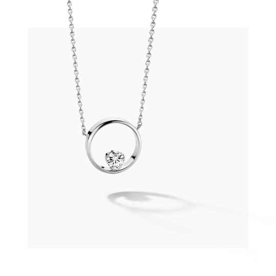 FJF Collier Icon Heart Silver/White FJF0010005SWH