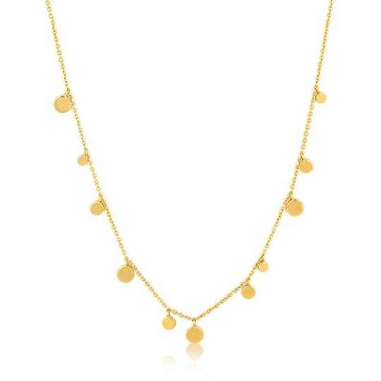 Ania Haie Geometry Mixed Discs Necklace AH N005-01G