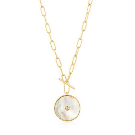 Ania Haie Mother of Pearl T-Bar- Necklace AH N022-04G