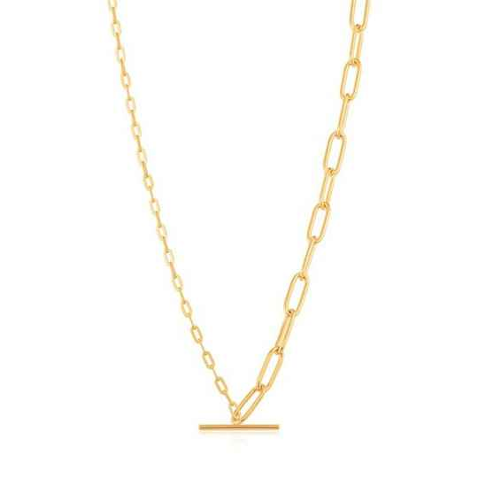 Ania Haie Mixed Link T-Bar Necklace AH N021-02G