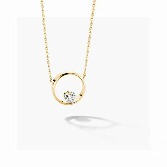 FJF Collier Icon Heart Yellowgold/White FJF0010005YWH