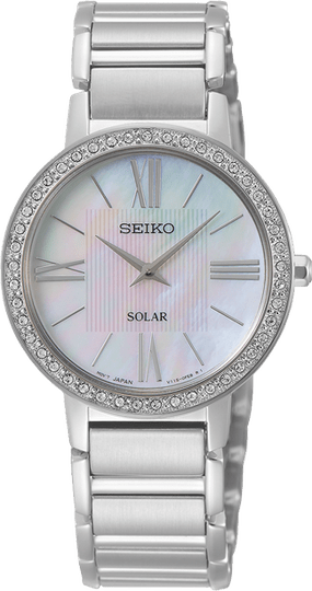 Seiko Dames Solar Staal SUP431P1