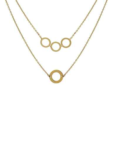 Jackie Circles Necklace - 14K Goud JKN20.019