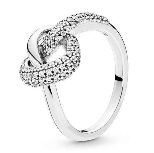 Pandora Ring Knotted Heart 198086CZ