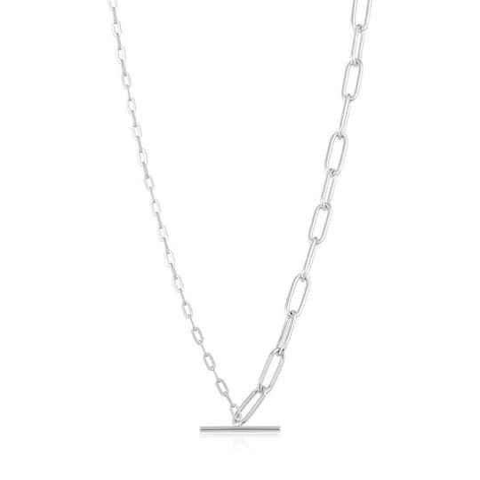 Ania Haie Mixed Link T-Bar - Necklace AH N021-02H