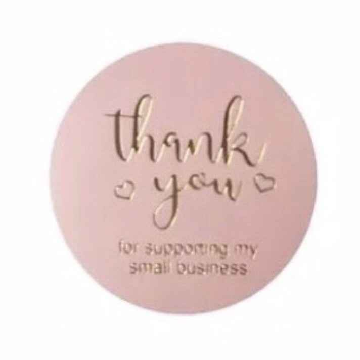 Thank you for supporting my small business roze - sluitsticker