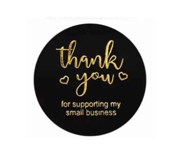 Thank you for supporting my small business zwart - sluitsticker